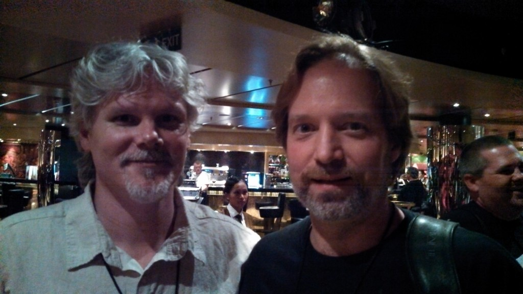 Andrew Colyer with Carl Groves (Glass Hammer)