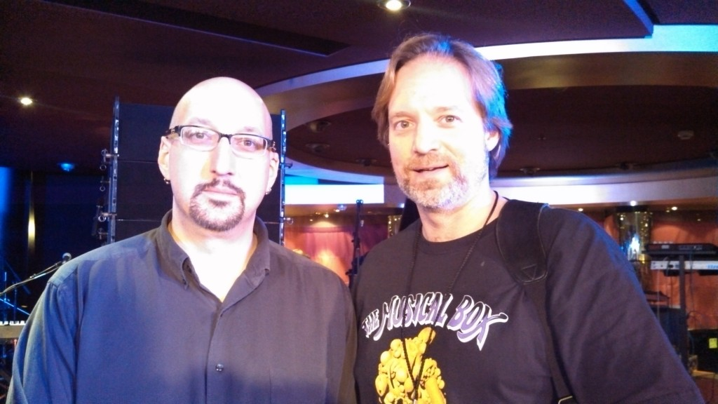 Andrew Colyer with Fred Schendel (Glass Hammer)