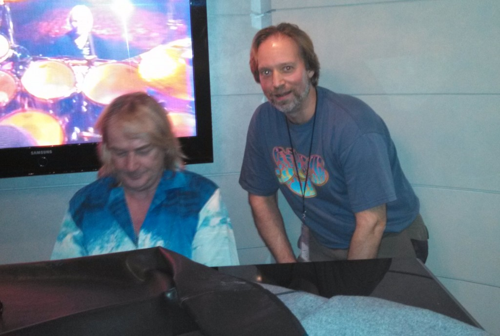 Andrew Colyer with Geoff Downes (The Buggles, Asia, YES)