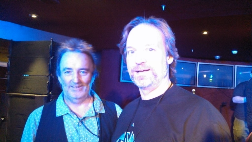 Andrew Colyer with Jon Kirkman (classic rock radio veteran, author)