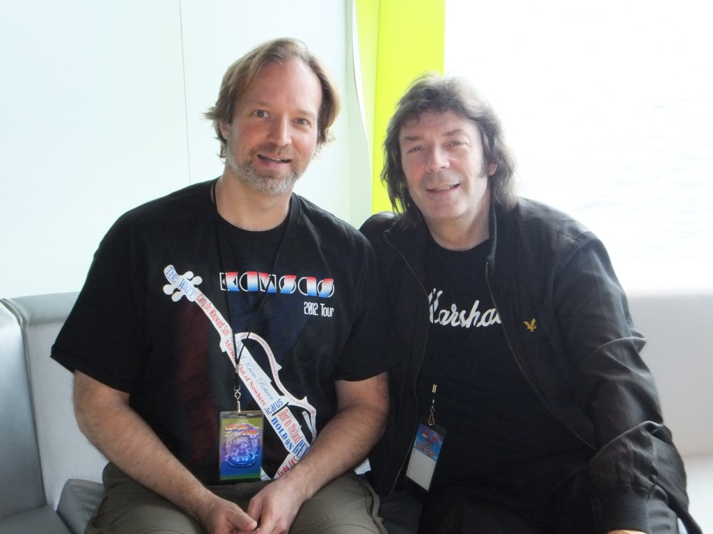 Andrew Colyer with Steve Hackett (Genesis)
