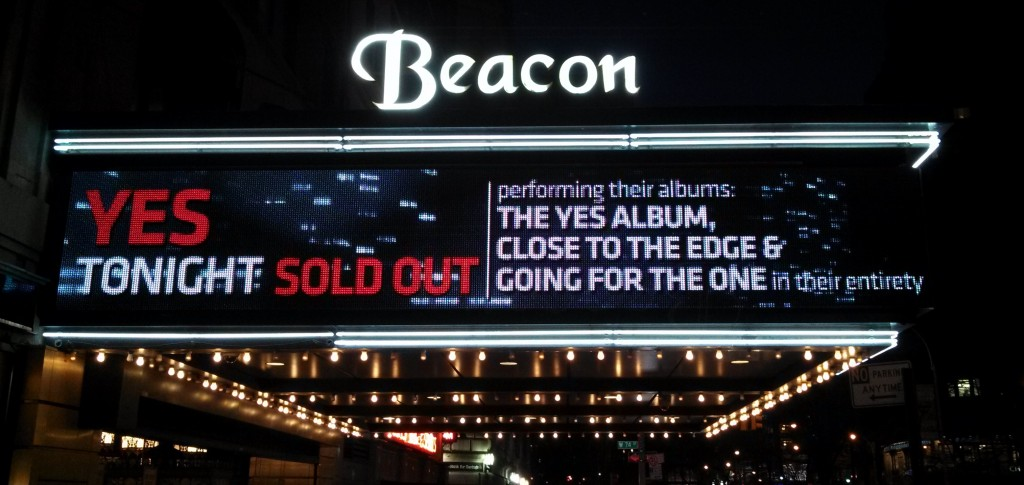 Beacon Theatre Marquee - New York City - April, 2013