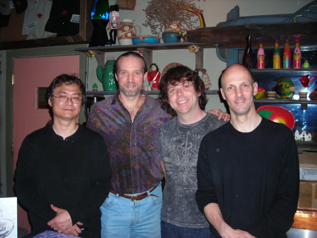 Andrew Colyer backstage with California Guitar Trio