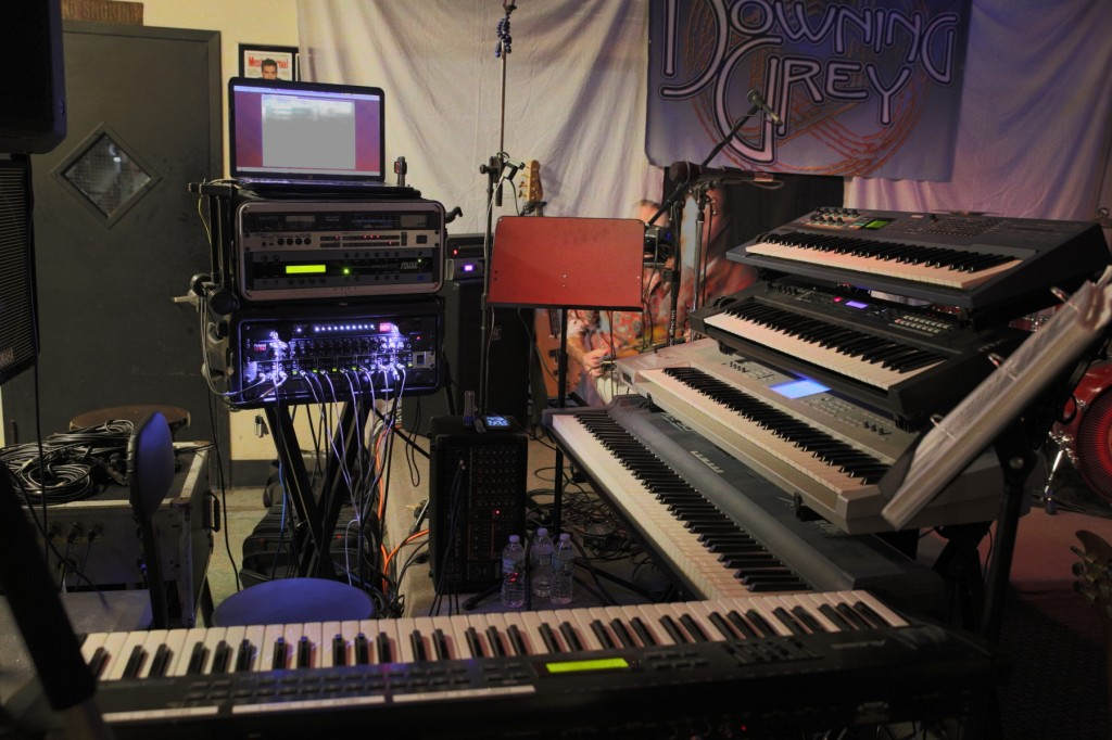 """Colyer's Keyboard Cockpit"" - before the gig with Progressive Rock Tribute Band Downing Grey at Keegan Ales"