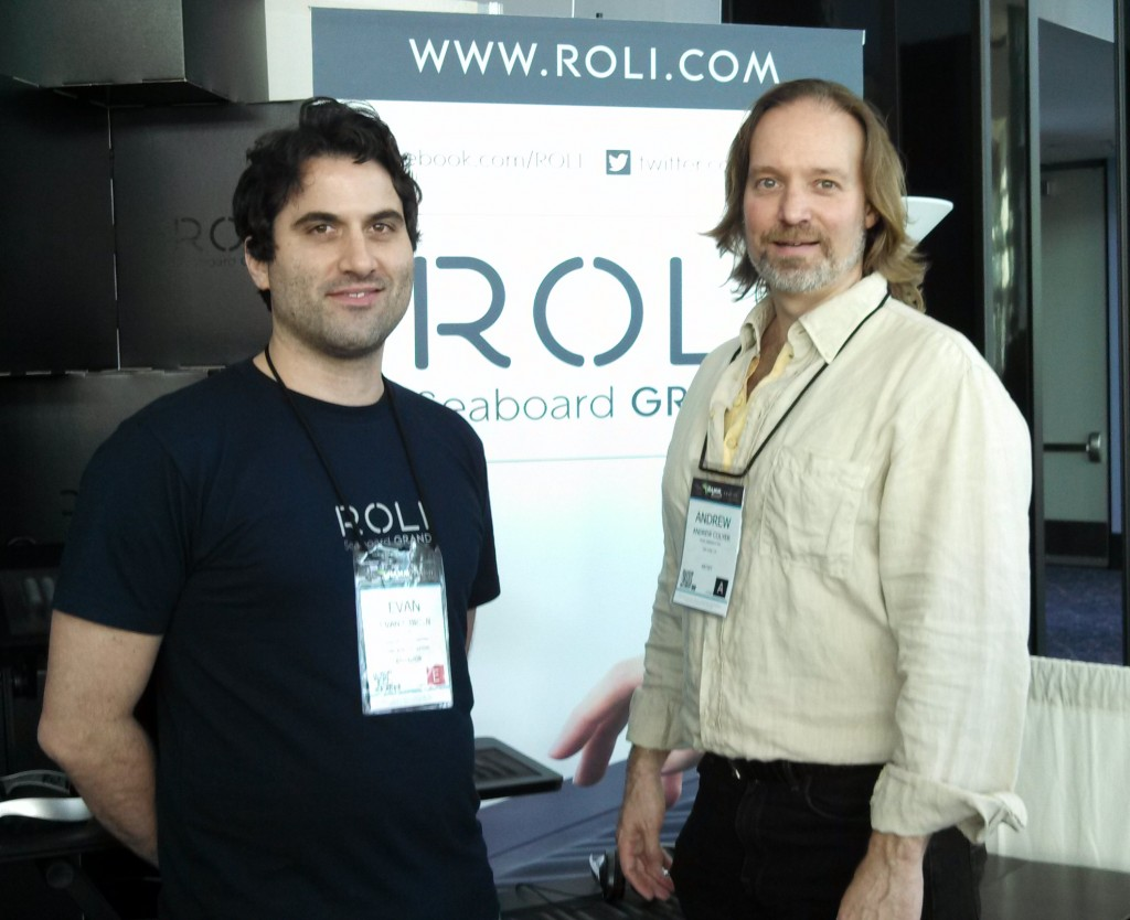 Andrew Colyer with Evan O'Brien, ROLI Head of Artist Relations