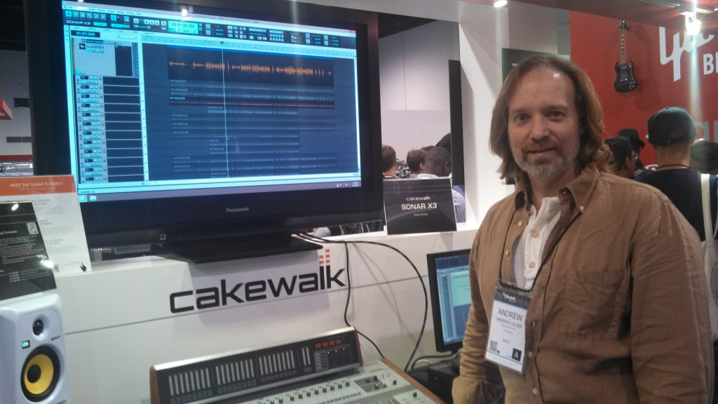 Andrew Colyer at the NAMM Cakewalk Booth.