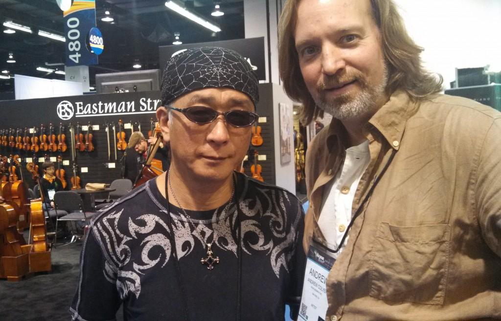 Andrew Colyer with Ryo Okumoto (Spock's Beard)