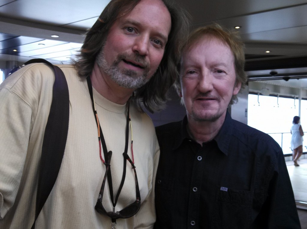 Andrew Colyer with Mik Kaminski (Electric Light Orchestra)