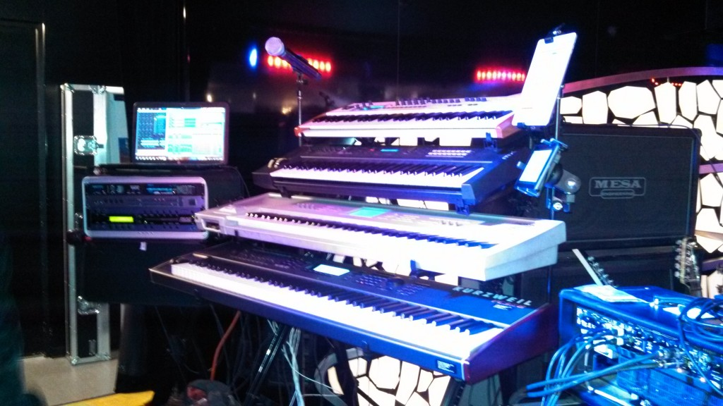 Andrew Colyer's keyboard/vocal rig with the Prog Rock Orchestra - for the YES Cruise to the Edge and the Moody Blues Cruise