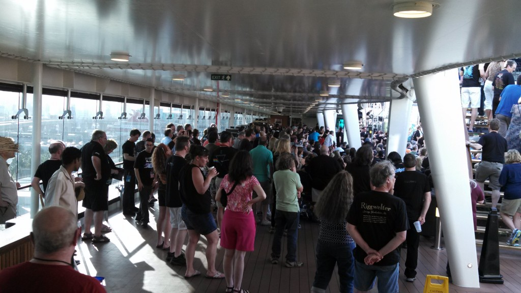 The endless sea of PROG fans in black T-shirts!  Day One of the 2014 Cruise to the Edge