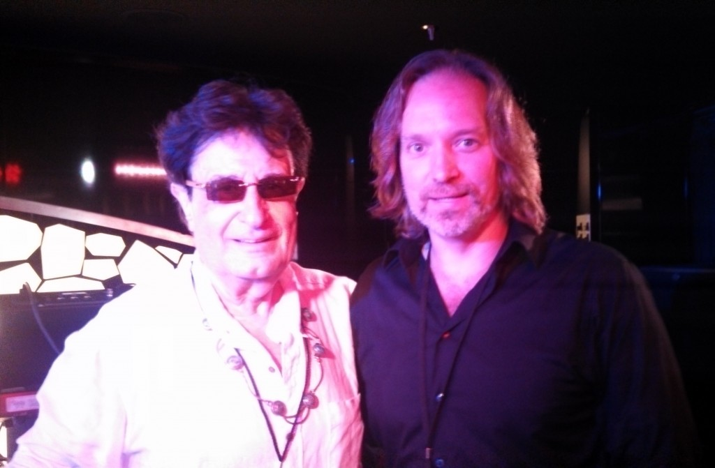 Andrew with Patrick Moraz (YES, Moody Blues)