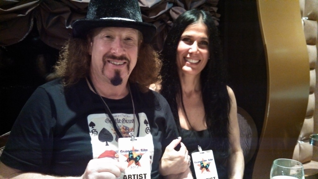 Composer/keyboardist/vocalist Brook Hansen of the Prog Rock Orchestra with his wife Adrianna on the 2014 YES Cruise to the Edge