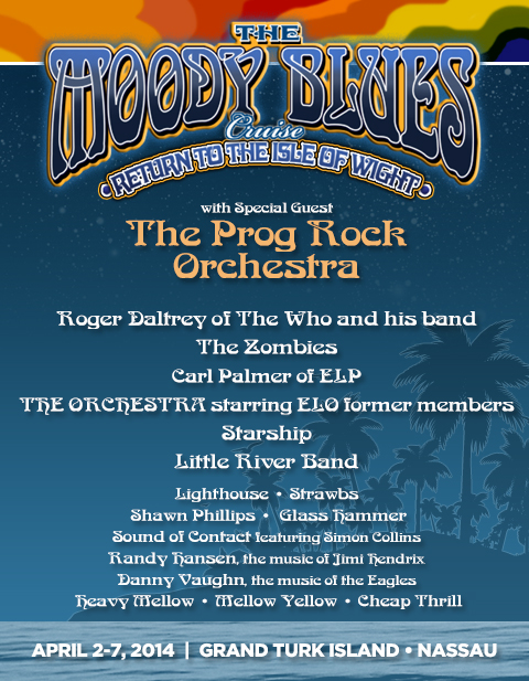 The 2014 Moody Blues Cruise featured the Prog Rock Orchestra