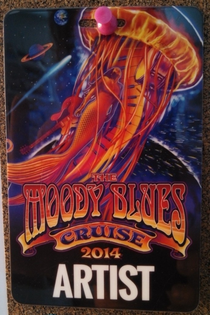 Andrew Colyer had the privilege to perform on keys/vocals with the Prog Rock Orchestra on the 2014 Moody Blues Cruise -  the Artist Badge