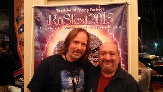 Andrew Colyer with radio show host Marty Dorfman (House of Prog) at RoSfest 2015